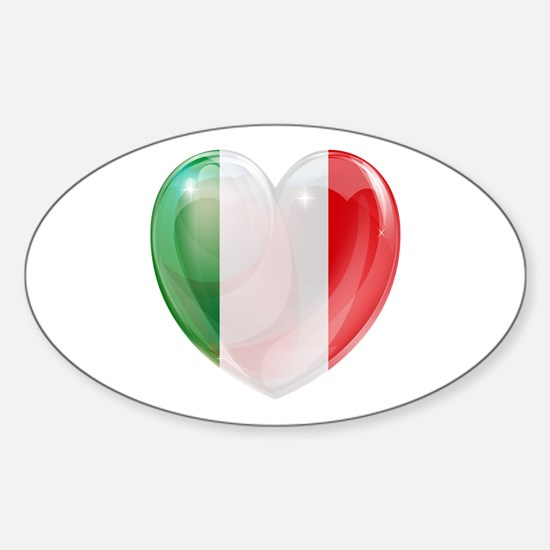 My Italian Heart Sticker (Oval)