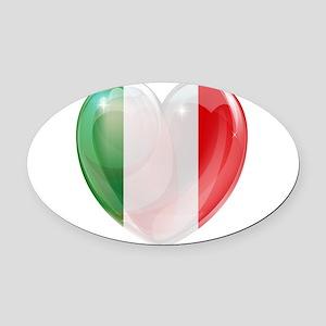 My Italian Heart Oval Car Magnet