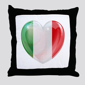 My Italian Heart Throw Pillow
