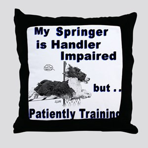 Springer Spaniel Agility Throw Pillow
