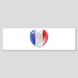 My French Heart Sticker (Bumper)