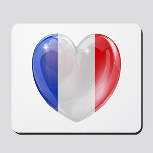 My French Heart Mousepad