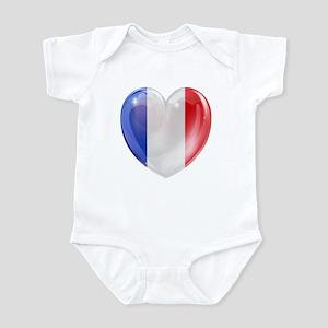 My French Heart Infant Bodysuit