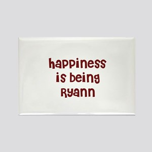 happiness is being Ryann Rectangle Magnet