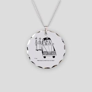Police Cartoon 4821 Necklace Circle Charm