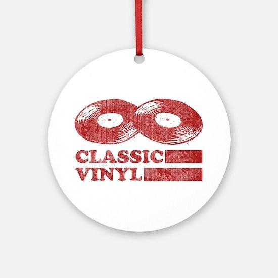 Classic Vinyl Ornament (Round)