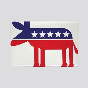 Democratic Donkey on Heels Magnets