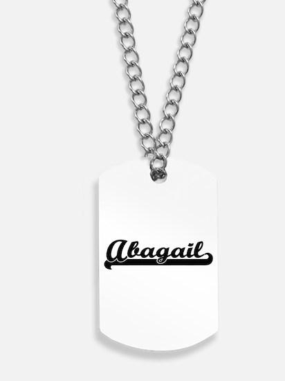 Abagail Classic Retro Name Design Dog Tags