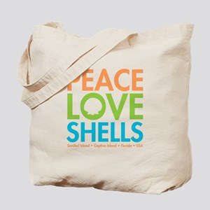 Peace-Love-Shells Tote Bag