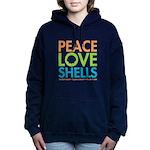 Peace-Love-Shells Women's Hooded Sweatshirt