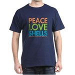 Peace-Love-Shells Dark T-Shirt