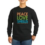 Peace-Love-Shells Long Sleeve Dark T-Shirt