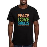 Peace-Love-Shells Men's Fitted T-Shirt (dark)