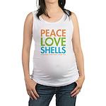 Peace-Love-Shells Maternity Tank Top