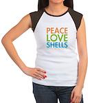 Peace-Love-Shells Junior's Cap Sleeve T-Shirt