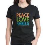 Peace-Love-Shells Women's Dark T-Shirt
