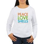 Peace-Love-Shells Women's Long Sleeve T-Shirt