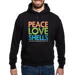 Peace-Love-Shells Hoodie (dark)