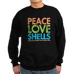 Peace-Love-Shells Sweatshirt (dark)