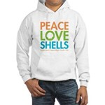 Peace-Love-Shells Hooded Sweatshirt