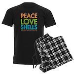 Peace-Love-Shells Men's Dark Pajamas