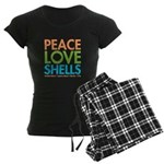 Peace-Love-Shells Women's Dark Pajamas