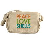 Peace-Love-Shells Messenger Bag