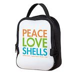 Peace-Love-Shells Neoprene Lunch Bag