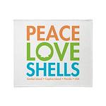 Peace-Love-Shells Throw Blanket