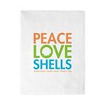 Peace-Love-Shells Twin Duvet