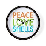 Peace-Love-Shells Wall Clock