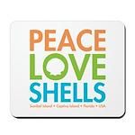 Peace-Love-Shells Mousepad