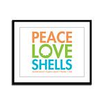 Peace-Love-Shells Framed Panel Print