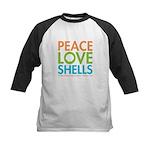 Peace-Love-Shells Kids Baseball Jersey