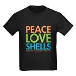 Peace-Love-Shells Kids Dark T-Shirt
