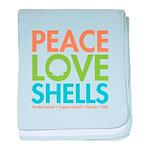 Peace-Love-Shells baby blanket