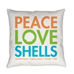 Peace-Love-Shells Everyday Pillow