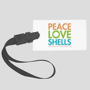 Peace-Love-Shells Large Luggage Tag