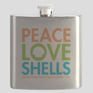 Peace-Love-Shells Flask