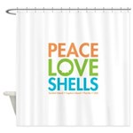 Peace-Love-Shells Shower Curtain