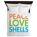 Peace-Love-Shells Queen Duvet