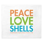 Peace-Love-Shells King Duvet