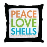 Peace-Love-Shells Throw Pillow