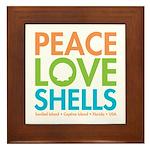 Peace-Love-Shells Framed Tile