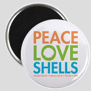 Peace-Love-Shells Magnet
