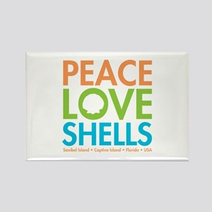 Peace-Love-Shells Rectangle Magnet