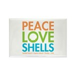 Peace-Love-Shells Rectangle Magnet (10 pack)