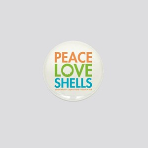 Peace-Love-Shells Mini Button