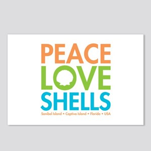 Peace-Love-Shells Postcards (Package of 8)