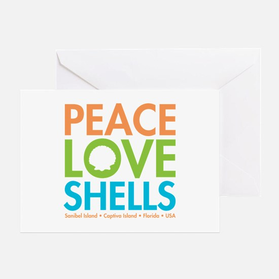 Peace-Love-Shells Greeting Card